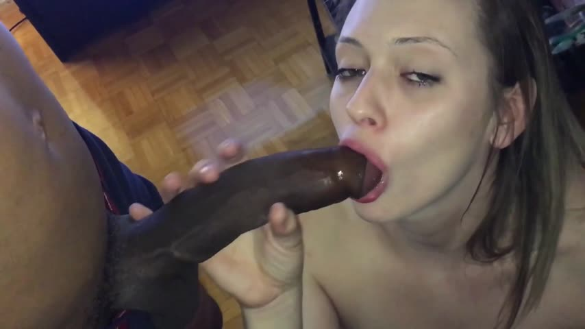 Amateur Cum Covered Blowjob