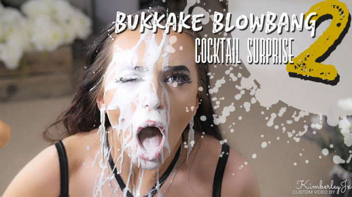 """KimberleyJx""  (Blow Jobs, Bukkake, Cumshots, Curvy, Facials) Bukkake Blowbang 2 - Cocktail Surprise ManyVids Production"