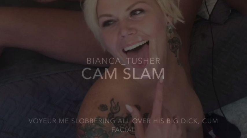 POV big dick cum announcement webcam