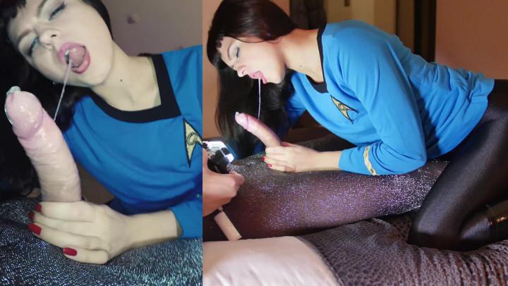 """Nylon Extreme""  (Nylon Worship, Pantyhose, Costume, Blowjob, Pornstars) Sonya Durganova in Star Trek Spock Nylon ManyVids Production"